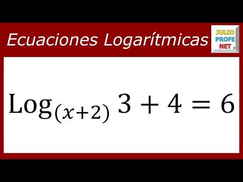 Ecuación logarítmica con la incógnita en la base