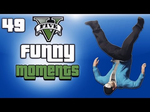 GTA 5 Online Funny Moments Ep. 49 (Fun Missions! Pool Dive & Car Bouncy Castle!)