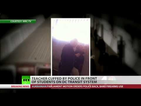 DC teacher handcuffed for being black in front of students (Dirty Cops)  2/21/14