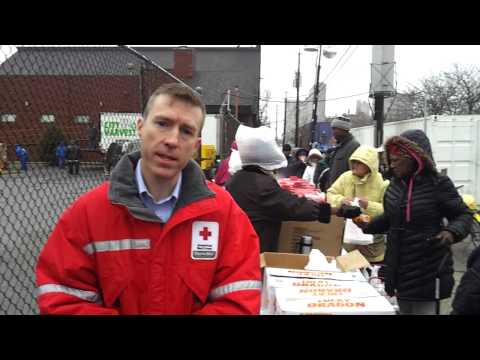 The Red Cross Continues to Provide Meals to those Affected by Sandy