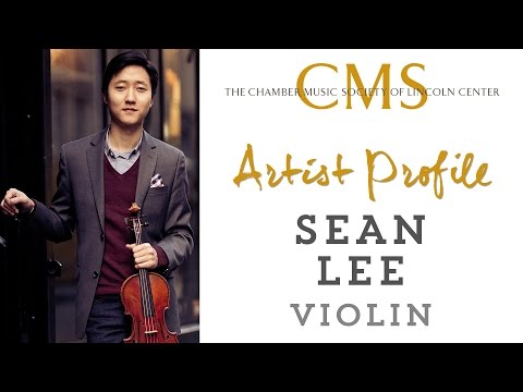 Sean Lee, violin - June 2013 CMS Artist Profile