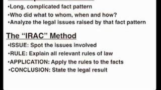 Irac method of legal writing example