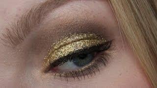 Gouden glitter kerst make-up tutorial