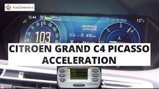 Citroen Grand C4 Picasso 1.6 HDI 115 KM - acceleration 0-100 km/h