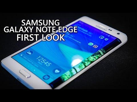بشاشة جانبية رهيبة Galaxy Note Edge بالفيديو شاهد : هاتف سامسونج الجديد