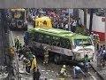 21 killed as Bus falls from Skyway tollroad in Taguig Bicutan 12-16-2013