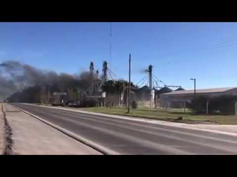 Un incendio consumió un silo y las pérdidas fueron millonarias
