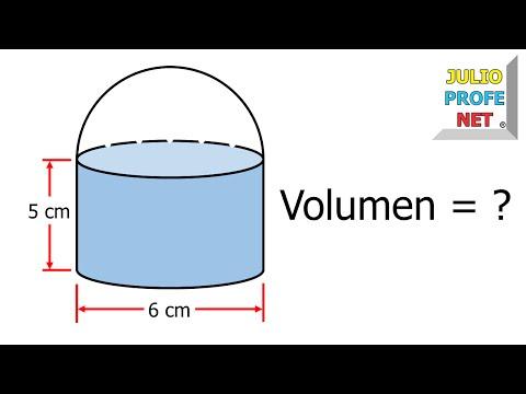 Volumen de un cilindro con una semiesfera