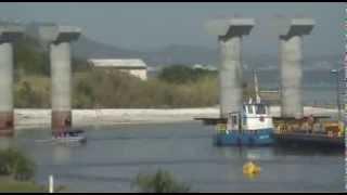 Obras da Nova Ponte de Laguna - A ponte Anita Garibaldi