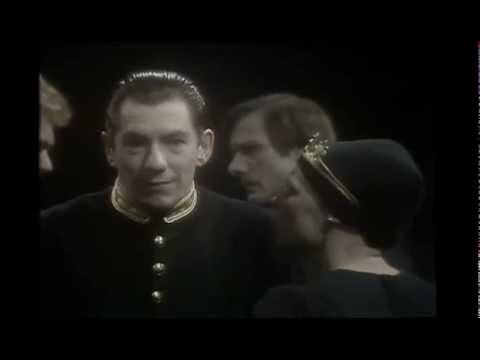 The ghost of Banquo haunts Macbeth (Ian McKellen)