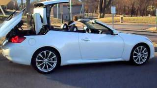 Infiniti g37s convertible top operation youtube sciox Image collections