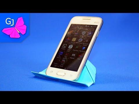 Как сделать подставку под телефон из бумаги своими руками 14