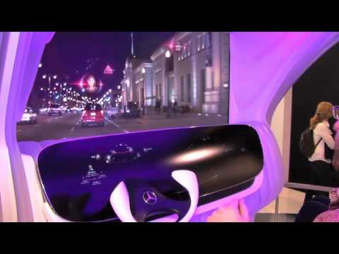 Mercedes Benz - Augmented Reality Dashboard at CES 2012