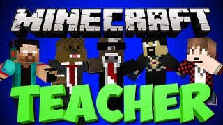 Minecraft TEACHER Minigame w/ AntVenom, TheBajanCanadian, JeromeASF and Noah