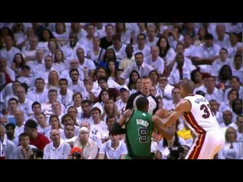 LeBron James Blocks Rajon Rondo