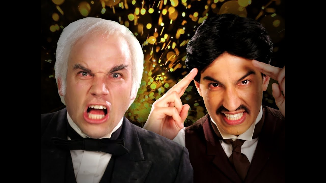 Nikola Tesla vs Thomas Edison. Epic Rap Battles of History Season 2.