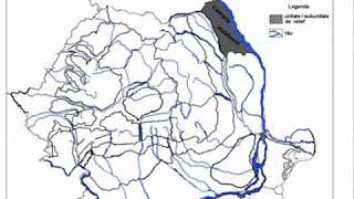 Harta Romaniei Subunitati De Relief