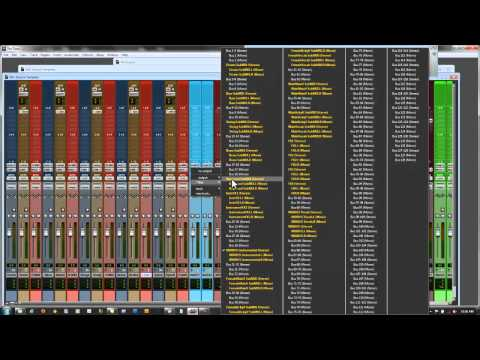 Pro Tools 9 & 8 mixing template and techniques (detailed setup)