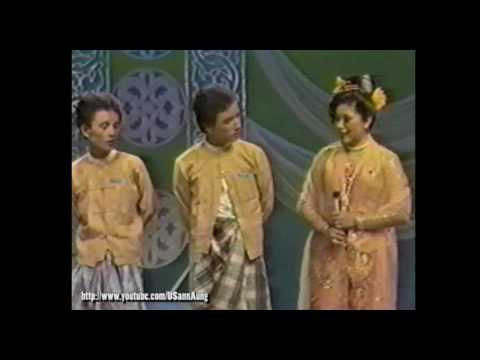 "#003 Zar Ga Nar, Thi Dar Win, and group ""Moe Nut Thu Zar A Nyein"" on Myanmar TV"