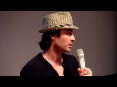 Ian Somerhalder talks about fake blood - May 22nd, 2011 Paris - The Vampire Diaries