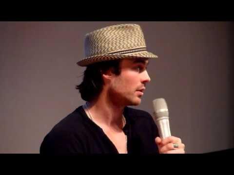 Ian Somerhalder talks about fake blood - May 22nd, 2011 Paris - The Vampire Diaries