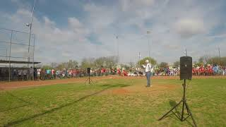 KCO Commissioner Jakie Allen Throws Out 2nd Ceremonial Pitch