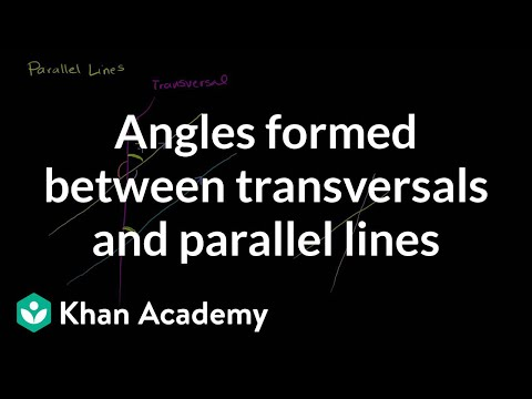 Angles formed between transversals and parallel lines