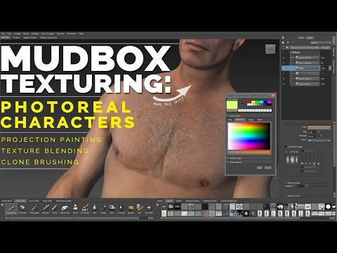 MUDBOX TEXTURING tutorial: creating photorealistic character textures