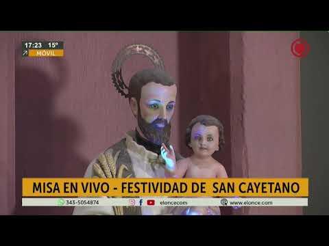 Se realizó la bendición de Pan y Trabajo en la misa en Honor a San Cayetano