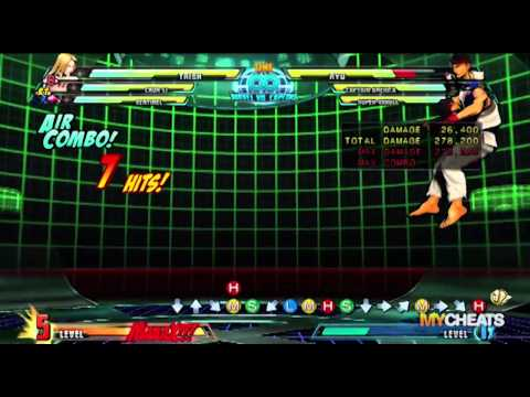 Marvel vs Capcom 3 Trish 736K Damage Combo Strategy Video