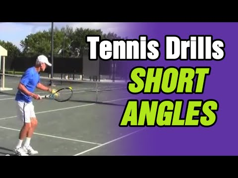 Tennis Lessons: Progression Drill For Learning How To Hit Short Angles