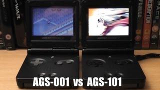 Game Boy Advance Screen Comparisons - SP AGS-101 vs AGS-001 vs GBA Micro vs DS Lite