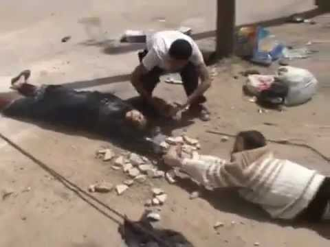 Syrian Army killing Mother and her son on their way to hosp