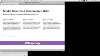A Basic Responsive Grid