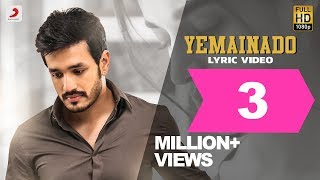 Mr. Majnu - Yemainado Lyric Video
