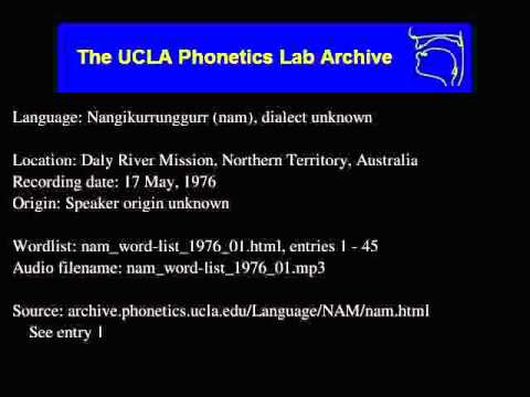 Ngan'gityemerri audio: nam_word-list_1976_01
