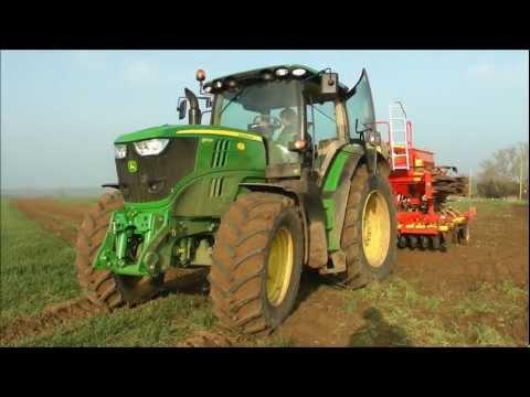 John Deere 6170R Seed Drilling 2012