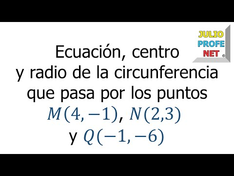 Circunferencia que pasa por tres puntos dados