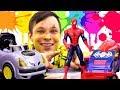 Мастерская Фёдора - Трасса для Супергероев – Человек Паук и Бэтмен.