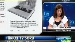 SBS 2013 Türkçe Soru Çözümleri ( 23 soru anlatımlı cevapları )
