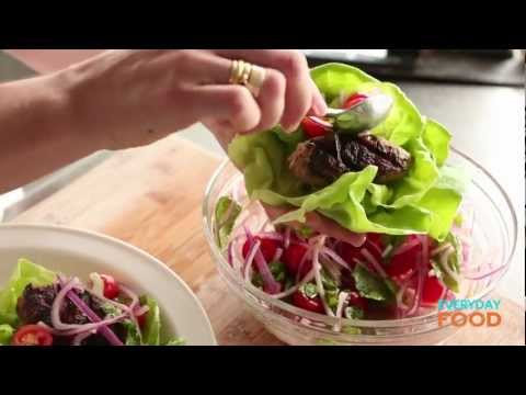Chicken Kebabs in Lettuce Cups | Everyday Food with Sarah Carey