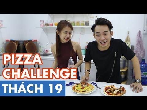 THÁCH 19 | PIZZA CHALLENGE (Phở & Ngọc Thảo) [Clip Hài Hước]