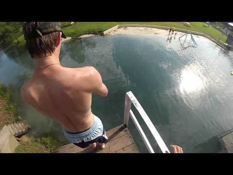 High jump into water- GoPro HERO 3 SILVER