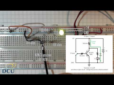 Experiments 2.1: Logic Gates - NOT gate using a single transistor