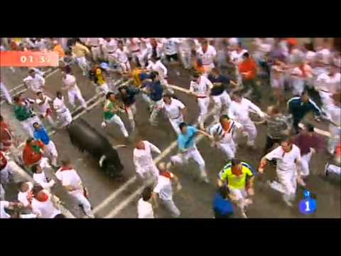 Segundo encierro San Fermin 2012. Encierro 8 de Julio de los San Fermines 2012