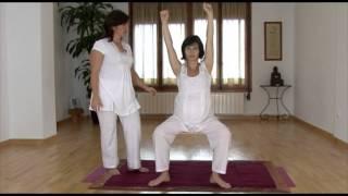 Yoga estiramiento brazos y tronco
