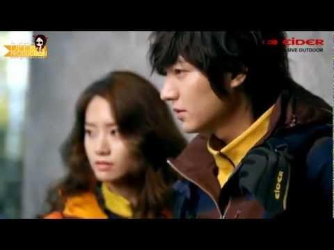 Lee Min Ho và Yoona trong buổi chụp hình cho Eider Catalog
