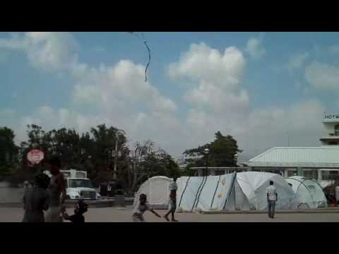 Project Jacmel - Kids and kites in Jacmel's town square