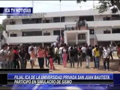 FILIAL ICA DE LA UPSJB PARTICIP EN SIMULACRO DE SISMO.flv