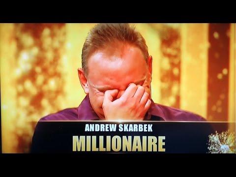 Australias Richest TV Game Show Millionaire Andrew Skarbek Makes History on Million Dollar Minute!
